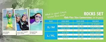 Us Divers Junior Snorkel Set Size Chart Snorkeling Accessories The Best Brands Value For Money