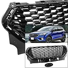 ford escape 2017 black. front grille for ford escape 2017-2018 mustang style black glossy honeycomb 2017 y