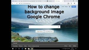 change background image in Chrome ...