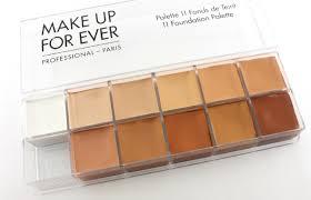 makeup forever foundation palette open