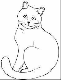Christmas Cat Coloring Page Awesome Cat Coloring Pages Printable