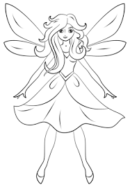 Small Picture Beautiful Fairy coloring page Free Printable Coloring Pages
