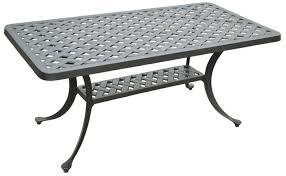 small metal patio table