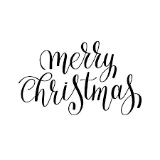 merry christmas black and white script. Fine White Merry Christmas Black And White Handwritten Lettering Inscription Holiday  Phrase Typography Banner With Brush Script Inside Merry Christmas Black And White Script R