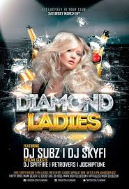 club flyer templates diamond ladies club flyer template for photoshop awesomeflyer com