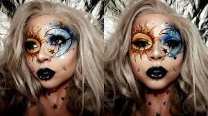 sun moon glitter face chart makeup glam insram makeup sydney nicole