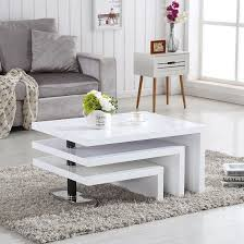 design coffee table rotating in white