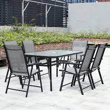 table chairs set metal xl patio