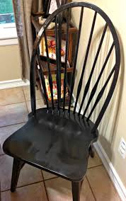 how to repaint wood chairs with spray paint windsor chair redo