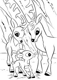 Santa Rudolph Coloring Pages Free Reindeer The Red Nosed Page