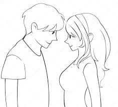 Pencil Sketches Of Couples Dictures Of Cute Couple Pencil Sketch Of Cute Cartoon
