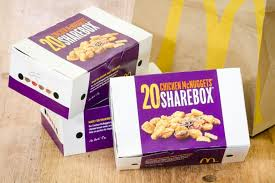 london england april 25 2016 box of mcdonald s en mcnuggets mcdonald s
