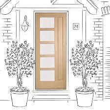 external door oak lucca with obscure