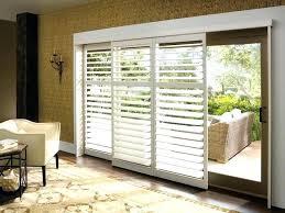 sliding glass door treatment ideas sliding glass door coverings palm shutters on a sliding glass door