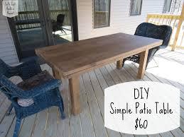 Let Just Build House Diy Simple Patio Table Details