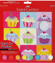 creativity for kids paint by number kit 9 u0022x9 u0022 cupcake pop