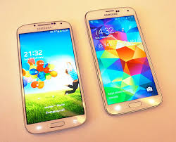 samsung galaxy s5 copper gold. the galaxy s5 (on right), looks very similar to last year\u0027s samsung copper gold i