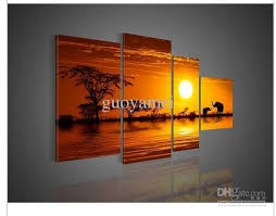 african abstract elephant canvas wall art decor colors forest sunset with tree of life home decoration modern artwork on canvas wall art tree of life with african abstract elephant canvas wall art decor colors forest sunset