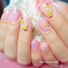 春夏ハンドオーロラ押し花 Mihoのネイルデザインno4072114