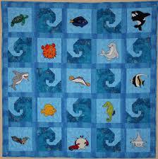 Ocean animal applique PDF baby quilt pattern paper pieced & 🔎zoom Adamdwight.com
