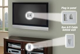 nec to run a power or extension cord behind a wall follow the instructions included in each kit to ensure a safe and code compliant installation