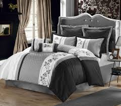 black and white comforter set ivory nightstand two standing lamps and comfort bed and comfort pillow plain bed set