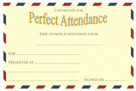 Attendance Award Template Certificate Templates Certificate Templates For Perfect