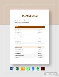 Sample Balance Sheets In Pdf 10 Examples In Word Pdf