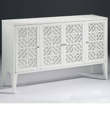white cabinet furniture. Mirrored Furniture - Lacquered White Credenza With Doors Cabinet U