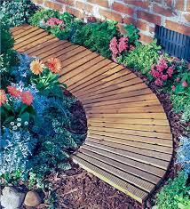 roll out wooden garden path
