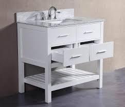 36 inch white bathroom vanity. Charlotte- 36 Inch White Bathroom Vanity W/ Marble Top S