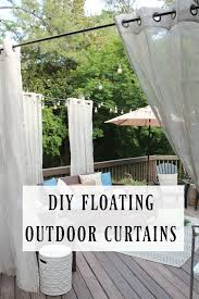 diy outdoor curtain rod privacy curtain ideas for deck