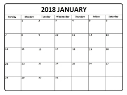 calendar january 2018 template 2018 calendar template