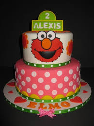 8 Elmo Round Birthday Cakes Photo Sesame Street Round Birthday