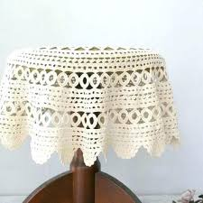 side table cloth side tables round bedside table covers vintage granny round crochet tablecloth off white