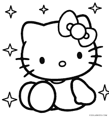 Hello Kitty Colring Sheets Free Printable Hello Kitty Coloring Pages For Pages Cool2bkids