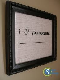 easy valentine s day gift i love you because frame tutorial inspired and only cost 1 18