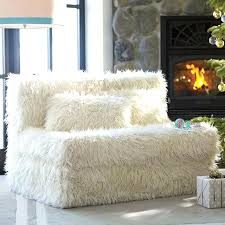 teen couch faux fur cushy sleeper home decorations collections