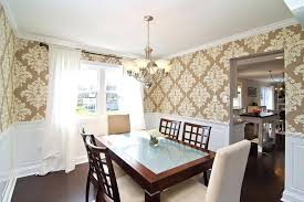 traditional dining room traditional dining room with chandelier crown molding heritage landing parquet curtain panel set