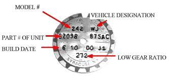 Jeep Transfer Case Identification Chart Jeep Grand Cherokee Wj Wj Four Wheel Drive Systems