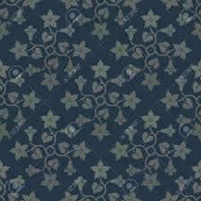 Bloemen Blauw Naadloos Patroon Decoratie Voor Behang Stoffen