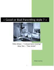 nervous conditions essay the man inside the w in tsitsi 5 pages essay 1 good or bad parenting style
