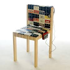 eco chic furniture. Furniture: Nostalgic Chair Made Out Of Old Tapes Eco Chic Furniture