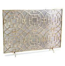 antique gold fireplace screen flat brushed decorative screens mesh