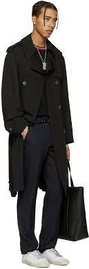 lanvin black wool trench coat men lanvin germany earrings retail s