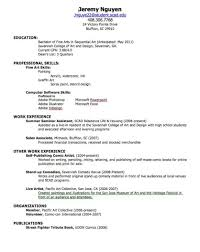 How To Make A Resume For College Resume Templates