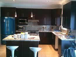 Backsplash For Dark Cabinets Amazing Dark Kitchen Cabinets New Home Designs