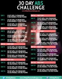 Try This 30 Day Ab Challenge By Jessica S Musely