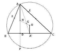orthocenter of a right triangle. if we rotate point o 180 degrees about g and double its length, get h, which wish to show is the orthocenter. by a simple property of medians orthocenter right triangle