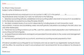 Letter Of Recommendation For Office Clerk Accountant Reference Recommendation Letters 15 Samples